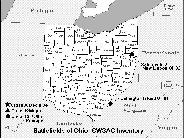 Battle Map of Ohio